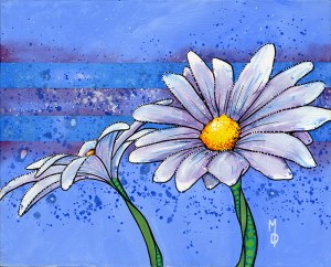 2 Daisies #2 | Original Art by Miles Davis | Massive Burn Studios