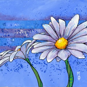 2 Daisies #2 | Original Art by Miles Davis | Massive Burn Studios