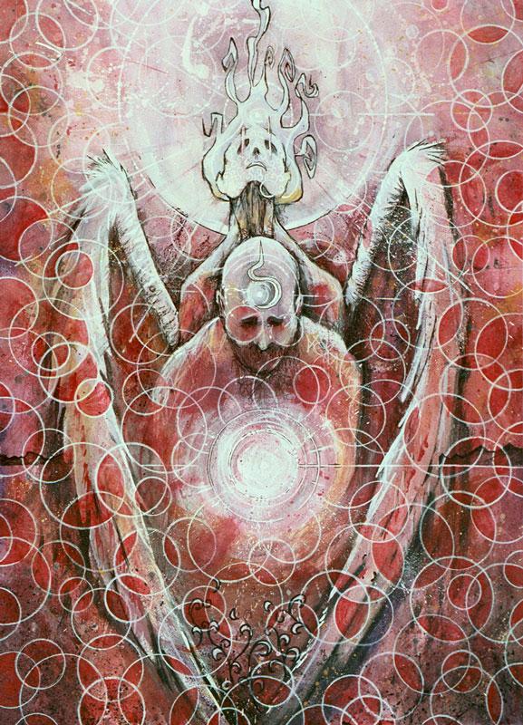 Protection in Purgatory | Original Art by Miles Davis | Massive Burn Studios