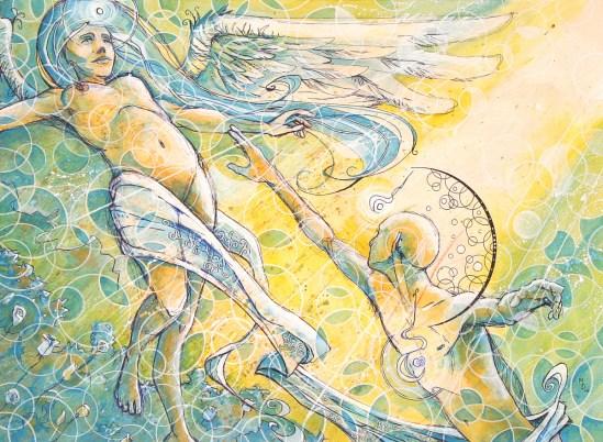 Vigilance of Faith | Fine Art by Neo Surrealist Painter Miles Davis | Massive Burn Studios