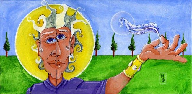 Wisdom in the Wind | Original Art by Miles Davis | Massive Burn Studios