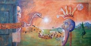 Conductor of Confessions | Original Art by Miles Davis | Massive Burn Studios