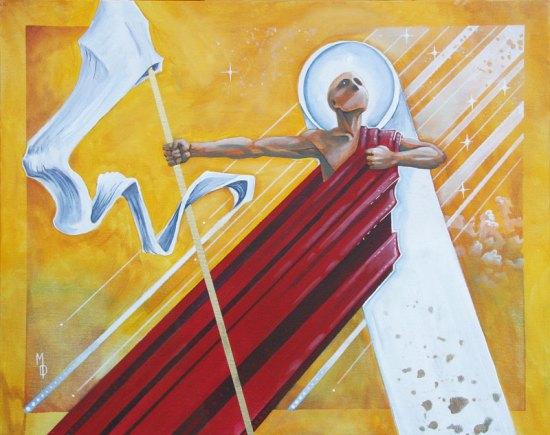Victorious Monk   Original Art by Miles Davis   Massive Burn Studios