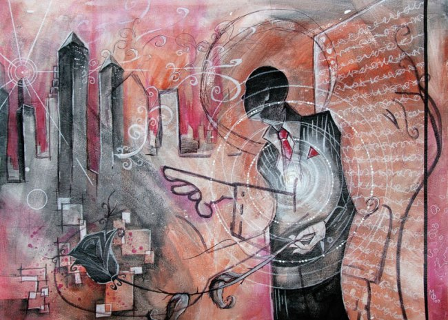 Urban Shadows | Original Art by Miles Davis | Massive Burn Studios