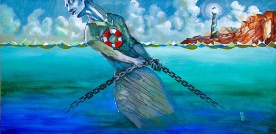 Drag the Waters | Original Art by Miles Davis | Massive Burn Studios