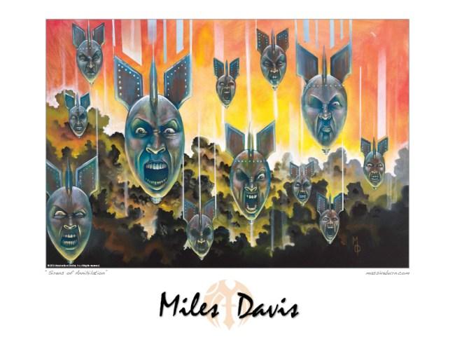 Sirens of Annihilation | Art Poster by Miles Davis | Massive Burn Studios