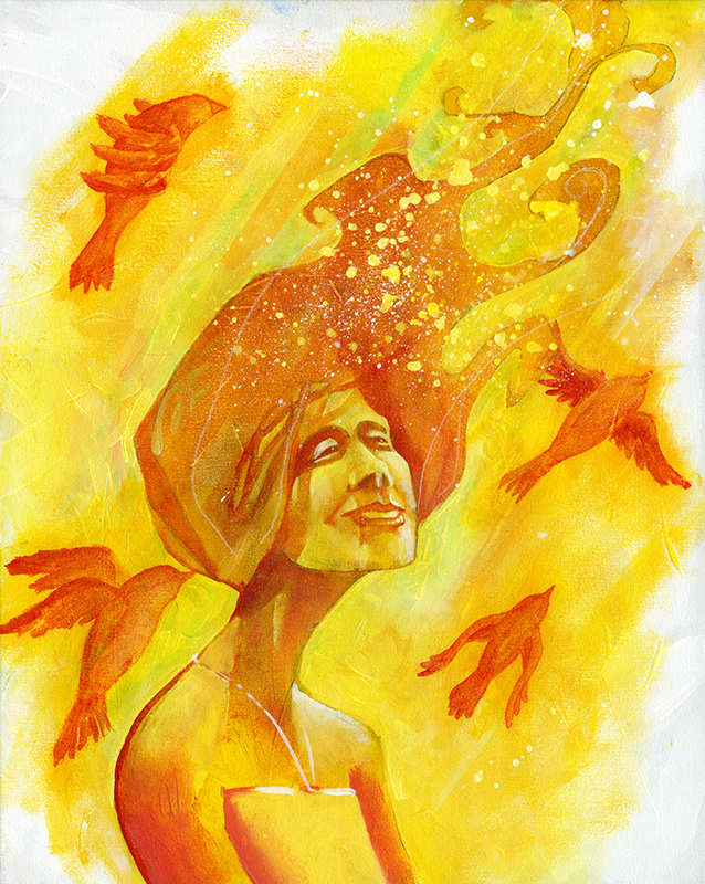 Study in Red and Yellow | Original Art by Miles Davis | Massive Burn Studios