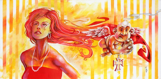 Burning Desire | Original Art by Miles Davis | Massive Burn Studios