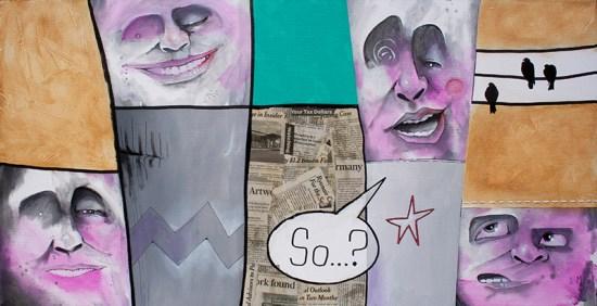 Street Gossip   Original Art by Miles Davis   Massive Burn Studios