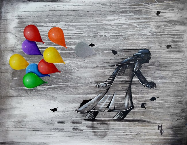 Slow March of Cynicism | Fine Art by Miles Davis | Massive Burn Studios