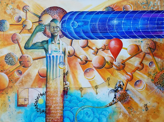 Creator's Sacrifice   Original Art by Miles Davis   Massive Burn Studios