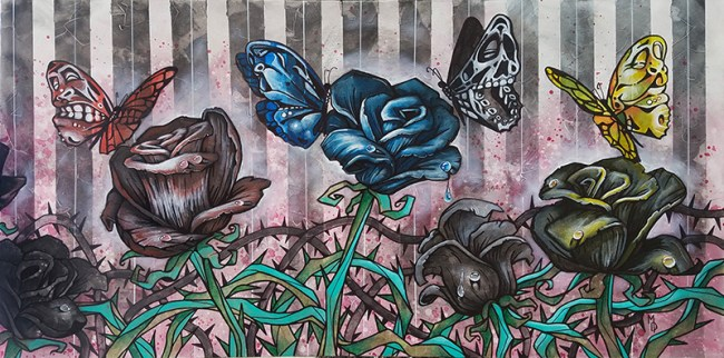 The Ghosts in the Garden | Original Art by Miles Davis | Massive Burn Studios