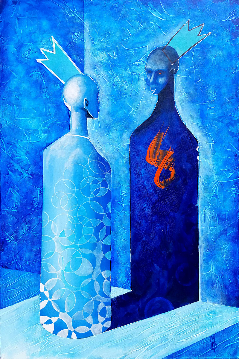 Face Off | Original Painting by Miles Davis | Massive Burn Studios Art