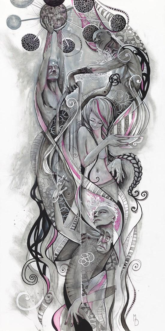 Infusion | Totem Series | Original Painting by Miles Davis | Massive Burn Studios Art