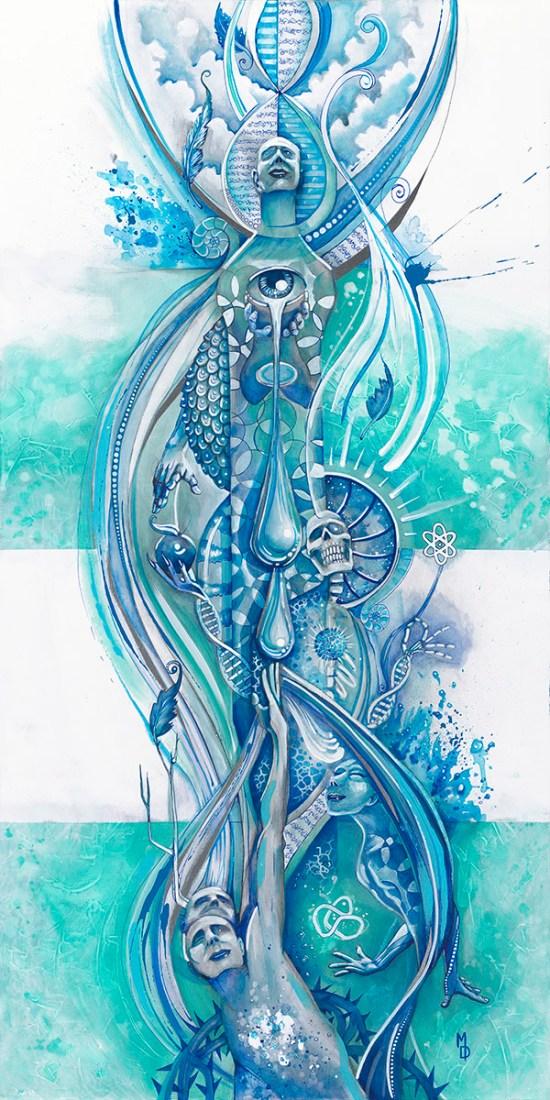 Osmosis   Totem Series   Original Painting by Miles Davis   Massive Burn Studios Art