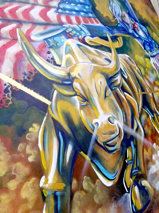 Detail of The Dance Original Painting by Neo Surrealist Painter Miles Davis   Massive Burn Studios