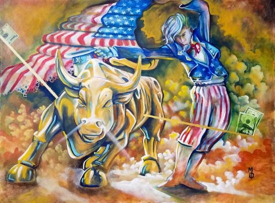 The Dance Original Painting by Neo Surrealist Painter Miles Davis   Massive Burn Studios