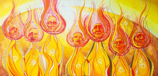 Anointed | Original Painting by Surrealist Miles Davis | Massive Burn Studios
