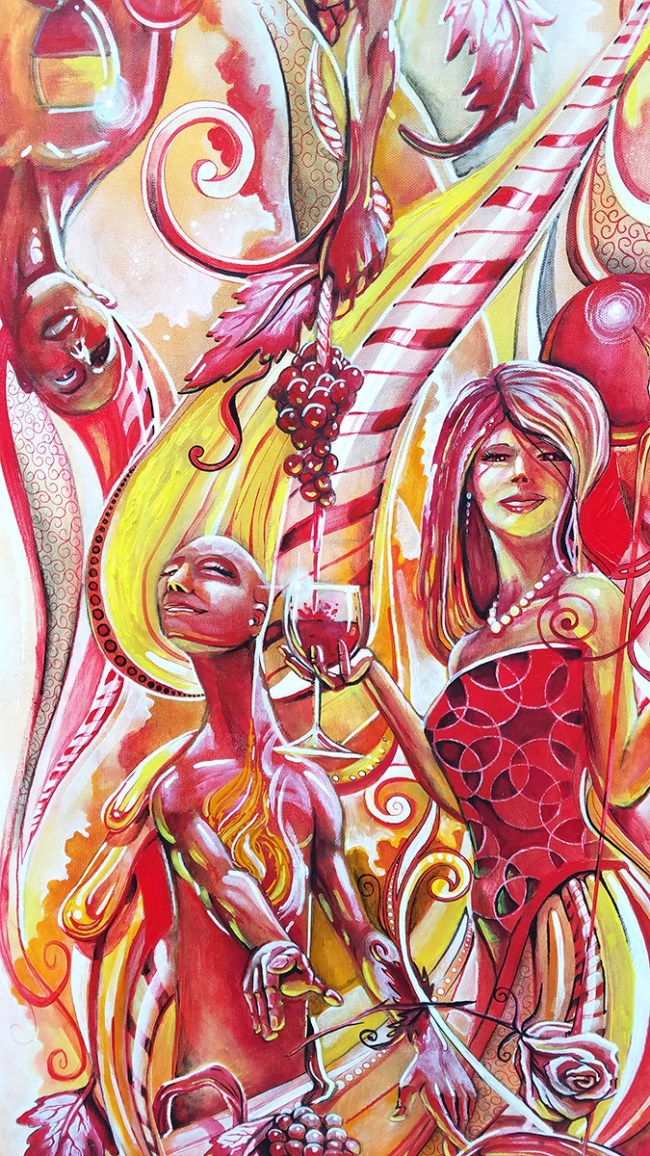 Detail Peppermint Nectar | Original Artwork by Miles Davis | Massive Burn Studios