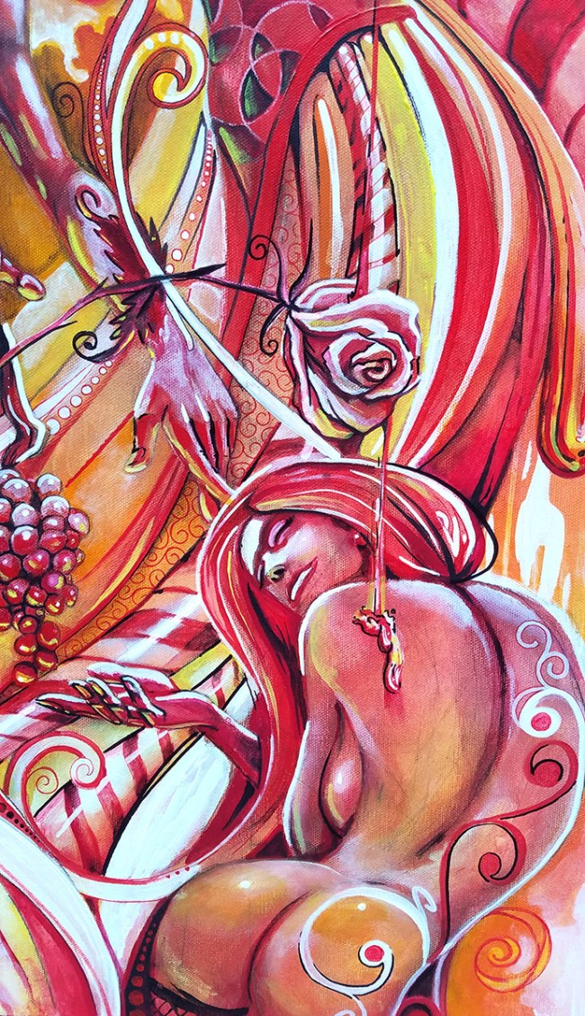 Detail Peppermint Nectar | Original Artwork by Miles Davis | Massive Burn Studios