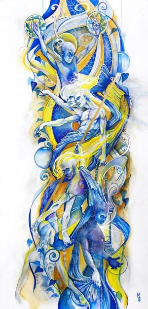 Photosynthesis | Original Painting by Pop-Surrealist Artist Miles Davis | Massive Burn Studios