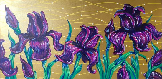 Royal Irises | Original Painting by Miles Davis | Massive Burn Studios