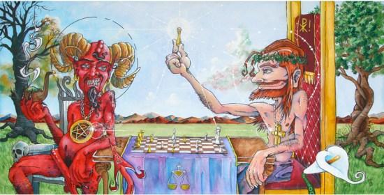 Checkmate | Fine Art by Neo Surrealist Painter Miles Davis | Massive Burn Studios
