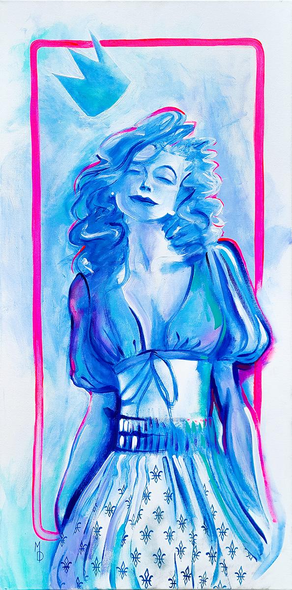 Modern Madonna | Original Painting by Pop-Surrealist Artist Miles Davis | Massive Burn Studios