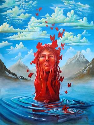 Fleeting Love | Original Painting by Modern Surrealist Artist Miles Davis | Massive Burn Studios