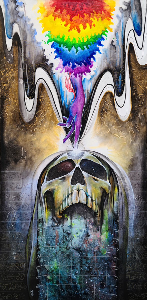 Cosmic Source | Original Painting by Modern Surrealist Artist Miles Davis | Massive Burn Studios