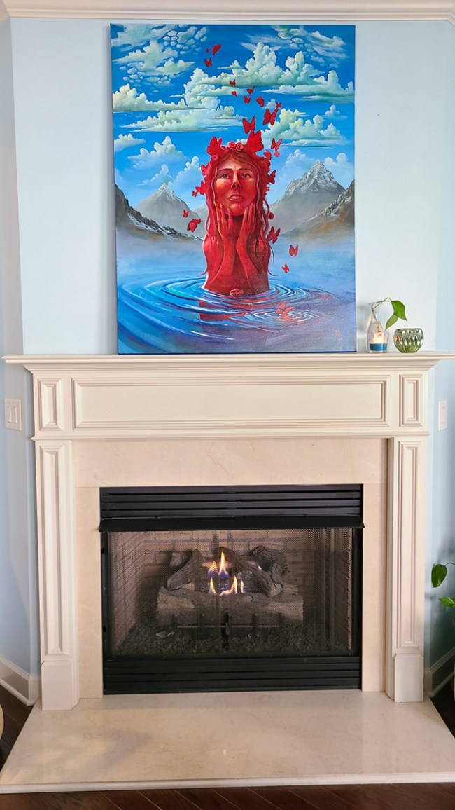 Fleeting Love | Original Painting by Miles Davis | Massive Burn Studios