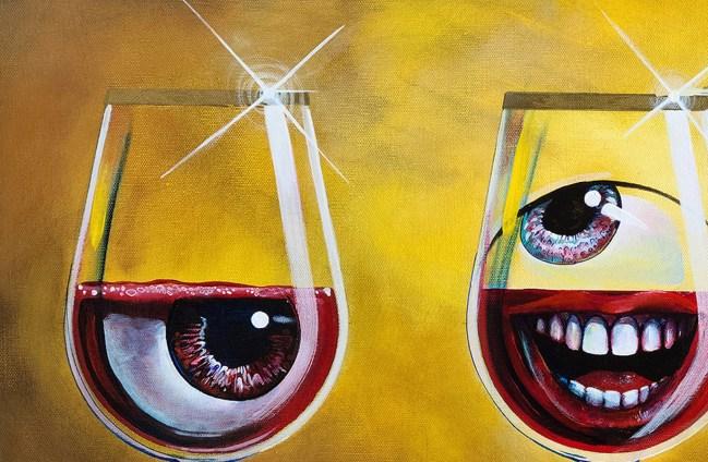 Sangria | Original Artwork by Surreal Artist Miles Davis | Massive Burn Studios