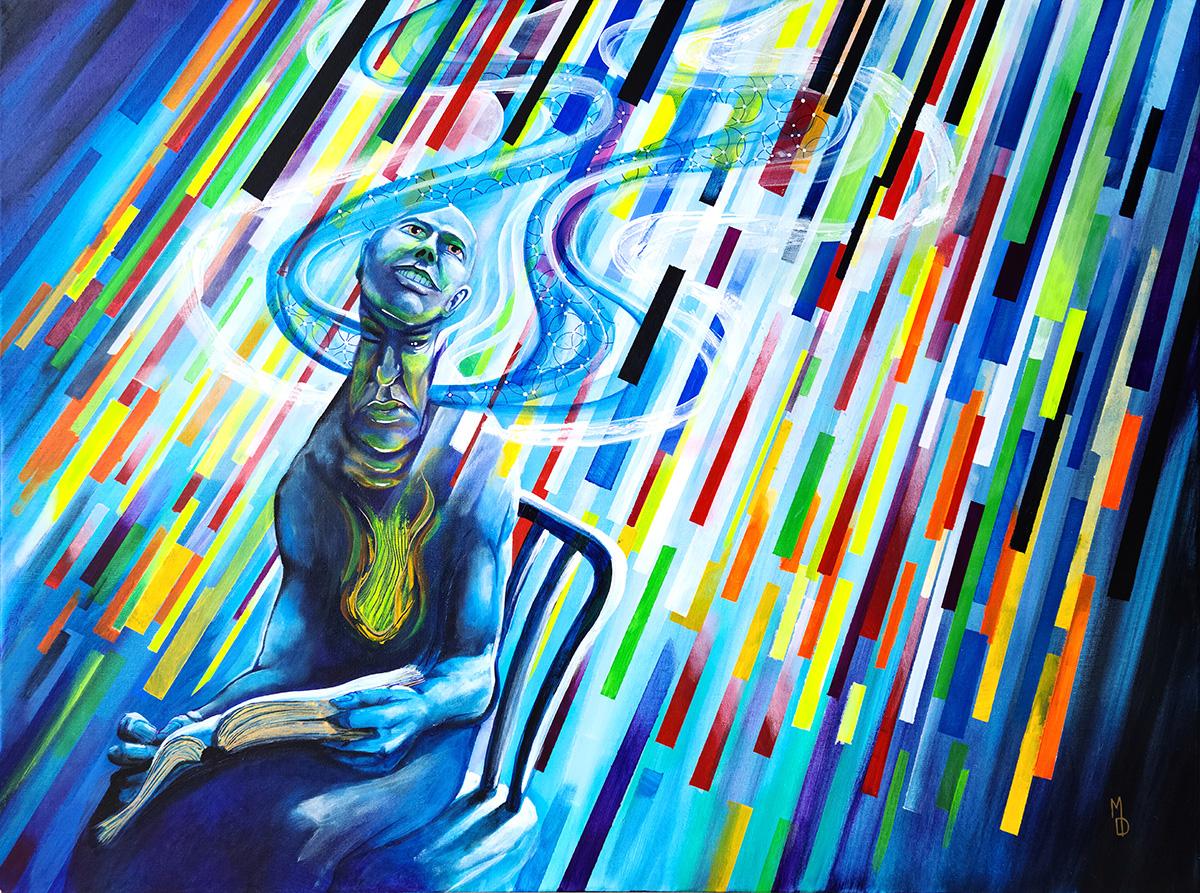 Glimmer | Original Artwork by Modern Surreal Artist Miles Davis | Massive Burn Studios