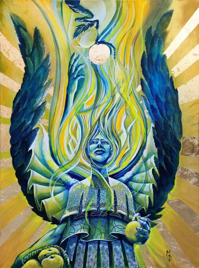 Harvester of Knowledge | Original Visionary Artwork by Artist Miles Davis | Massive Burn Studios