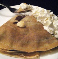 Nutella Banana Crepe with Whipped Cream