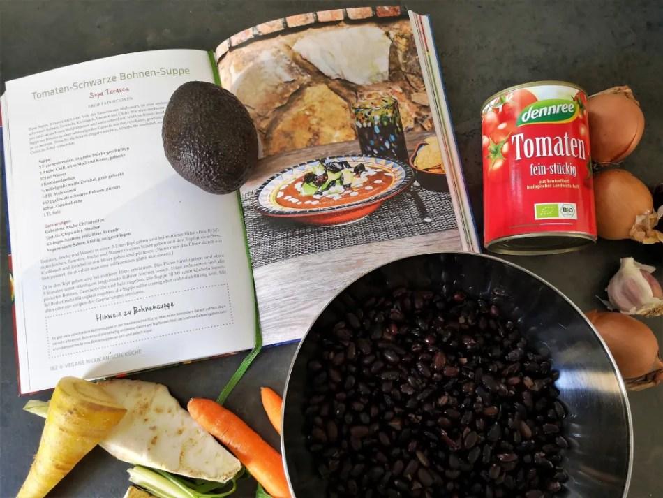 Kochbuch: Vegane mexikanische Küche und Zutaten für das Rezept