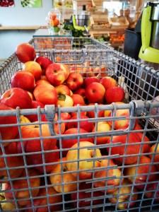 Bio-Äpfel aus Österreich.