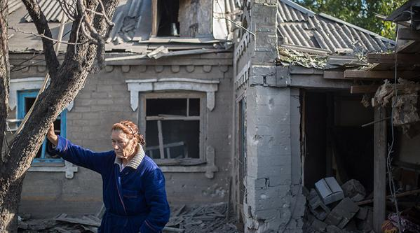 Devastation of Donetsk region