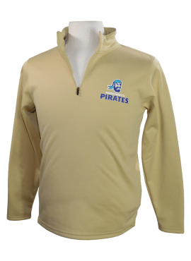 Pirates Primary Unisex Youth 1/4 Zip Up- Gold