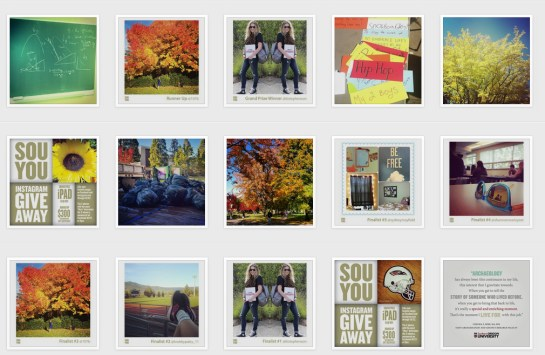 SOU instagram grab of all grid