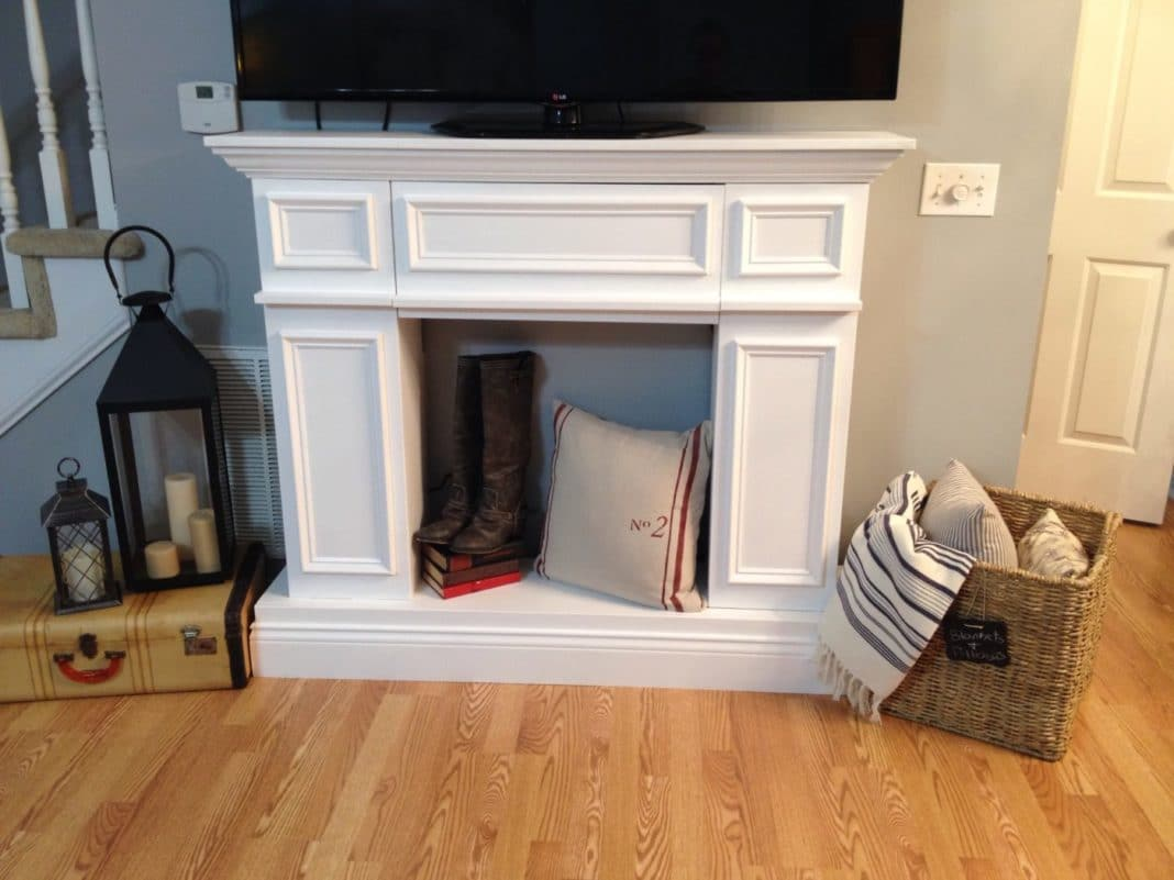 Decorative fireplace from chipboard