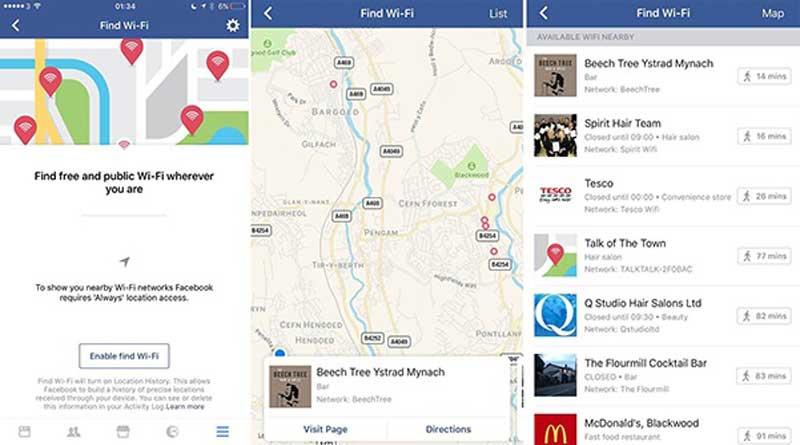 Wah! Facebook Bisa Bantu Carikan Koneksi WiFi Gratis!