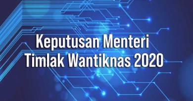 Keputusan Menteri Timlak Wantiknas 2020