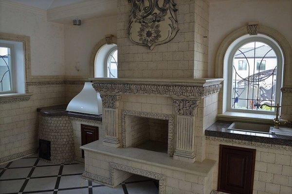 Печной комплекс с декором интерьера 1