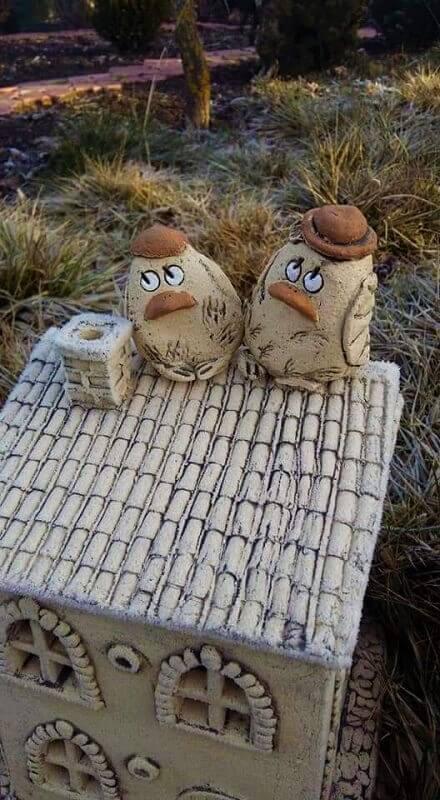 Керамические фигурки Птички (парочка) 1