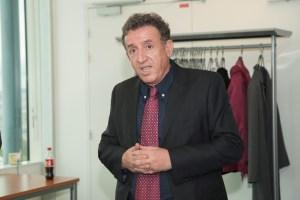 M. Ramdane Benferhat, parrain de la promo 2017 du master MIO. Photo. P. Kitmacher