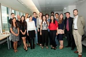 La promotion 2017 du master MIO, le parrain et les responsables pédagogiques