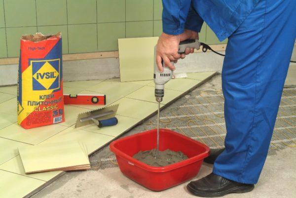 Piastrella per la colla del cemento
