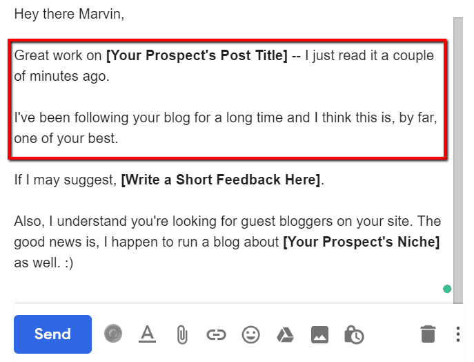 guest blogging email outreach templates