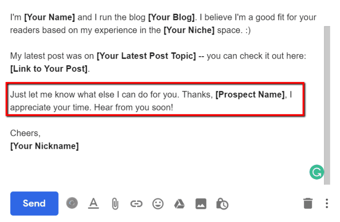 guest blogging emails